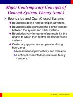 major contemporary concepts of general systems theory cont