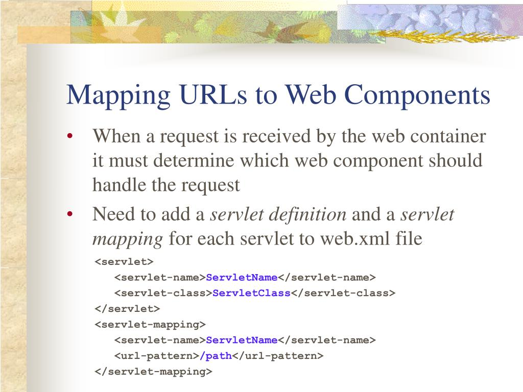 Mapping URLs to Web Components