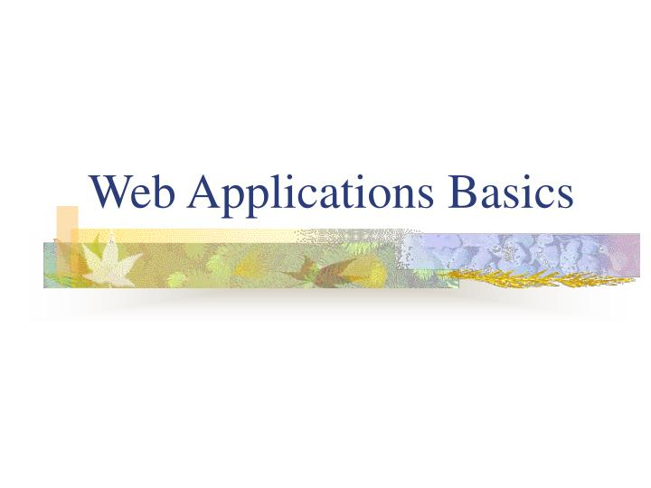 Web applications basics
