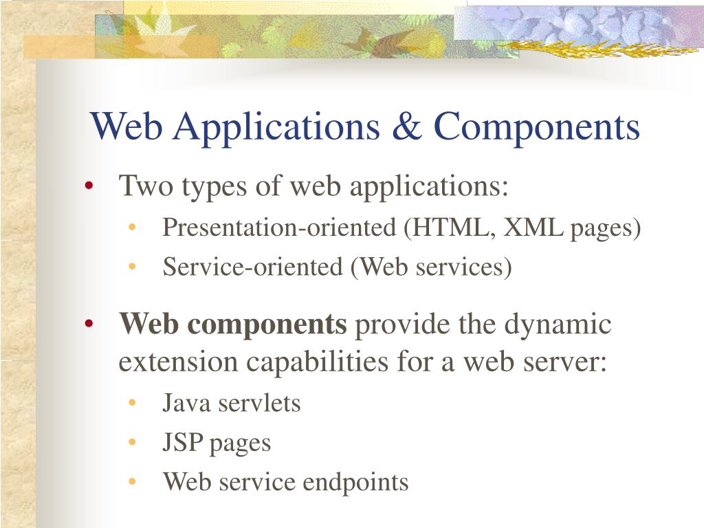 Web Applications & Components