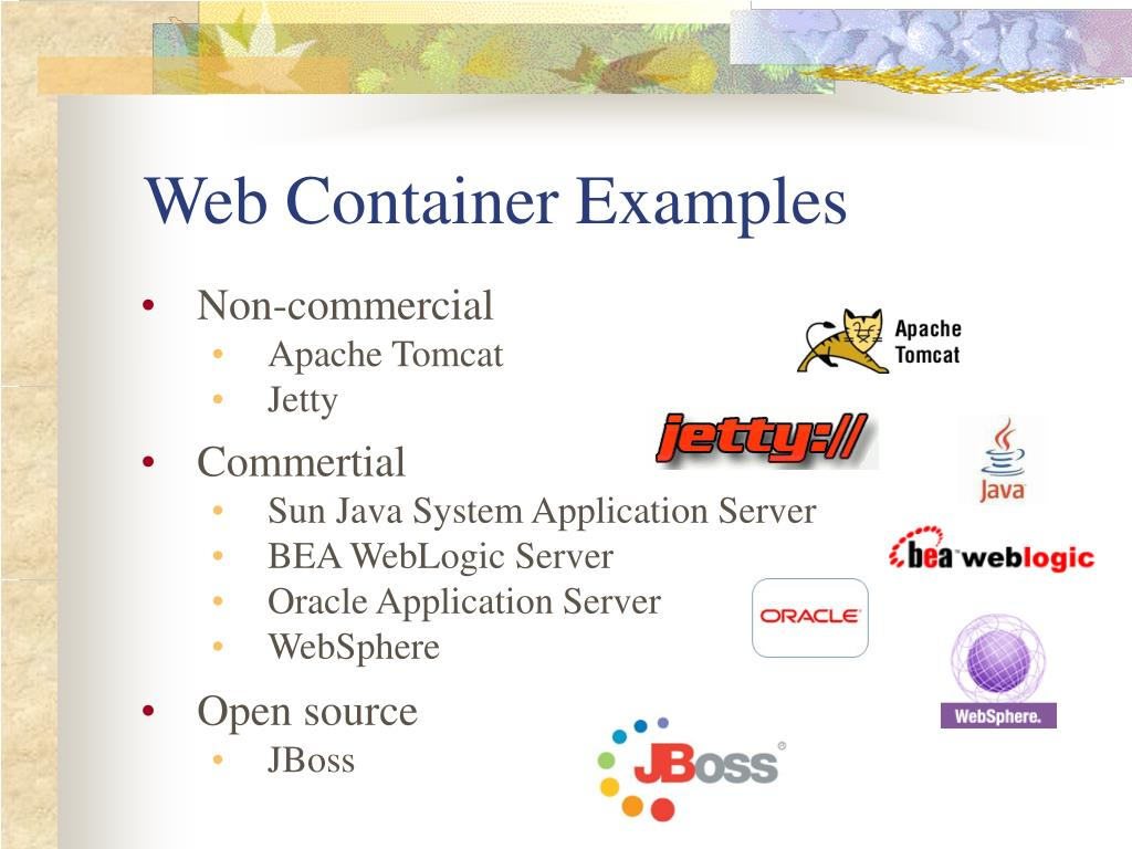 Web Container Examples