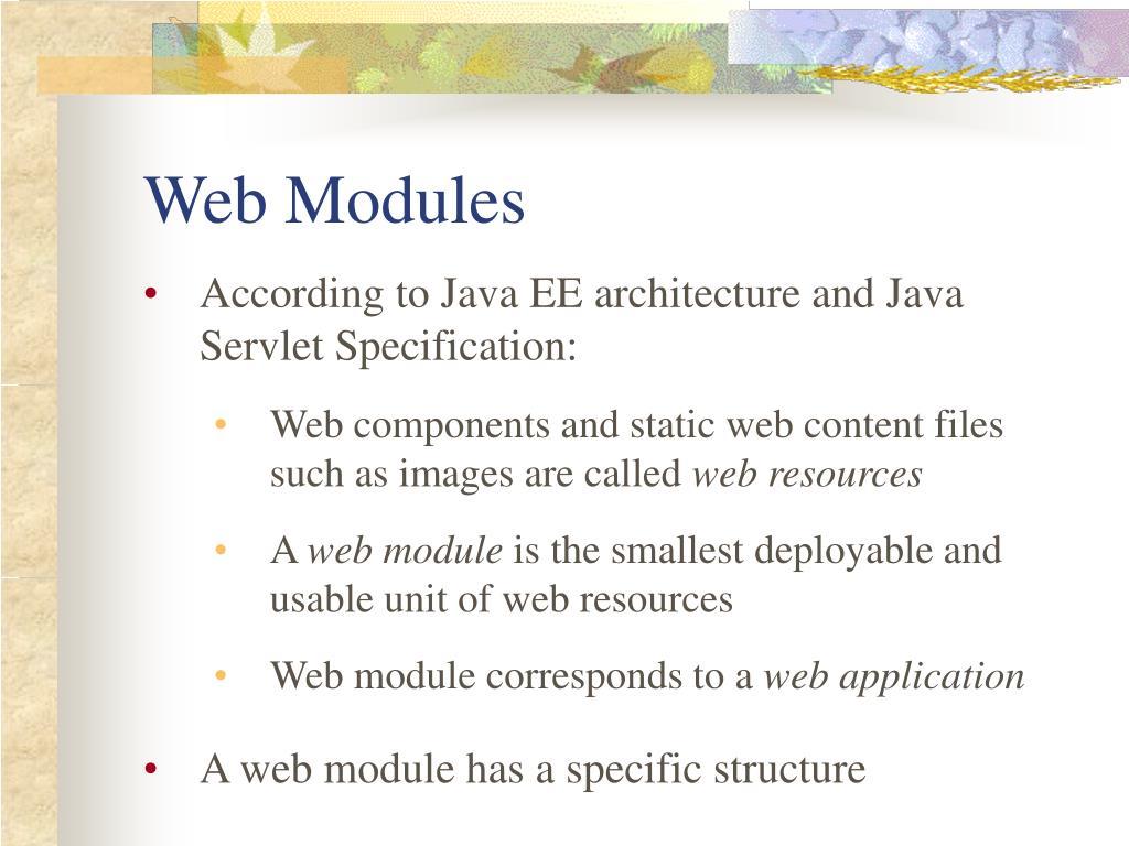 Web Modules