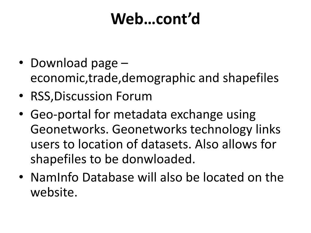 Web…cont'd