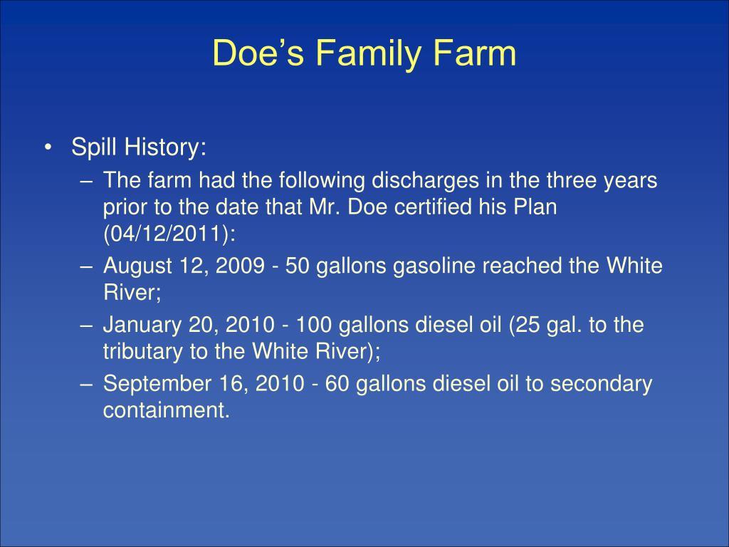 Doe's Family Farm