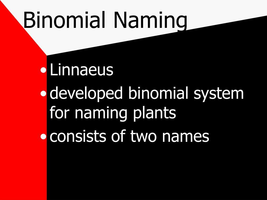 Binomial Naming