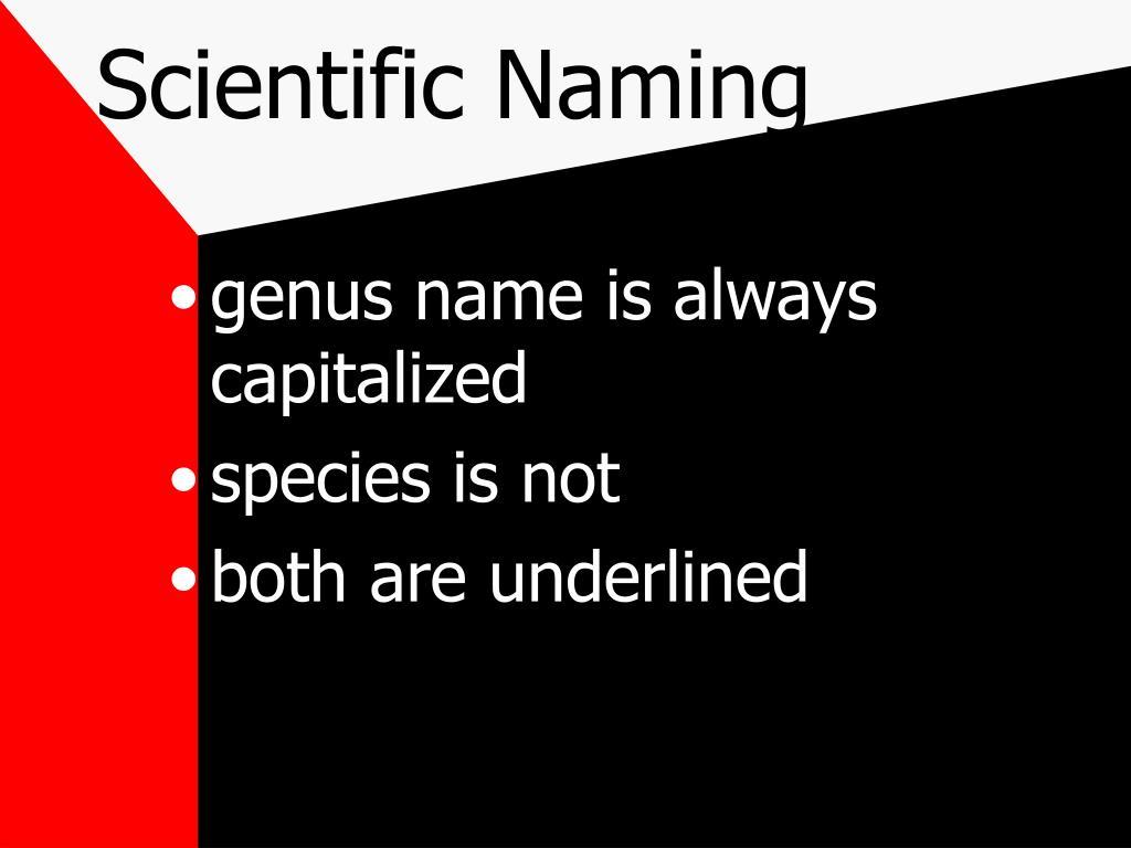 Scientific Naming