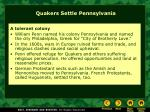 quakers settle pennsylvania1