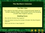 the northern colonies