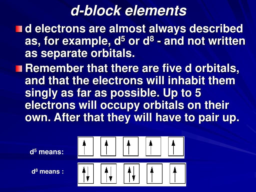 d-block elements