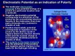 electrostatic potential as an indication of polarity