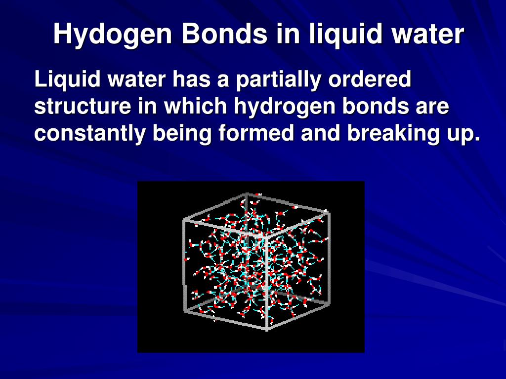 Hydogen Bonds in liquid water