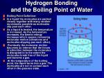 hydrogen bonding and the boiling point of water