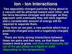 ion ion interactions