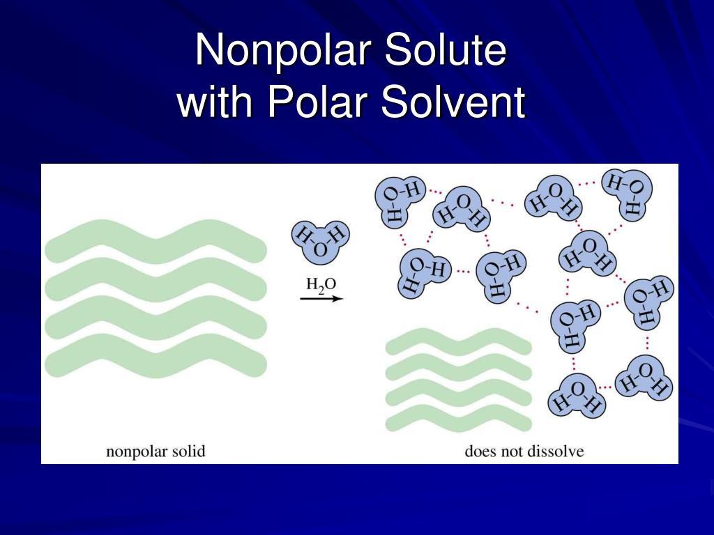 Nonpolar Solute