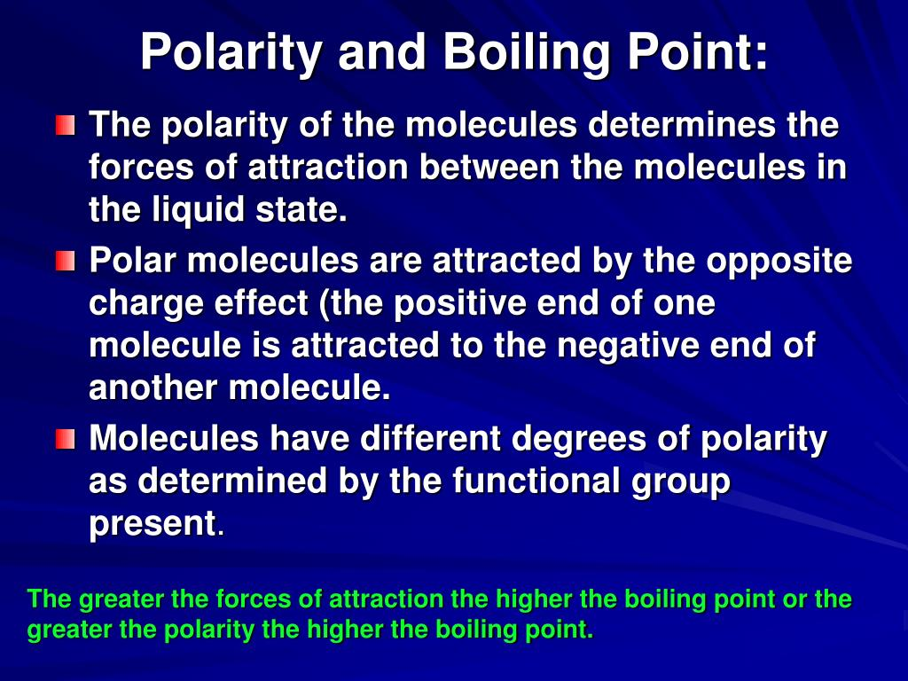 Polarity and Boiling Point: