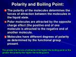 polarity and boiling point