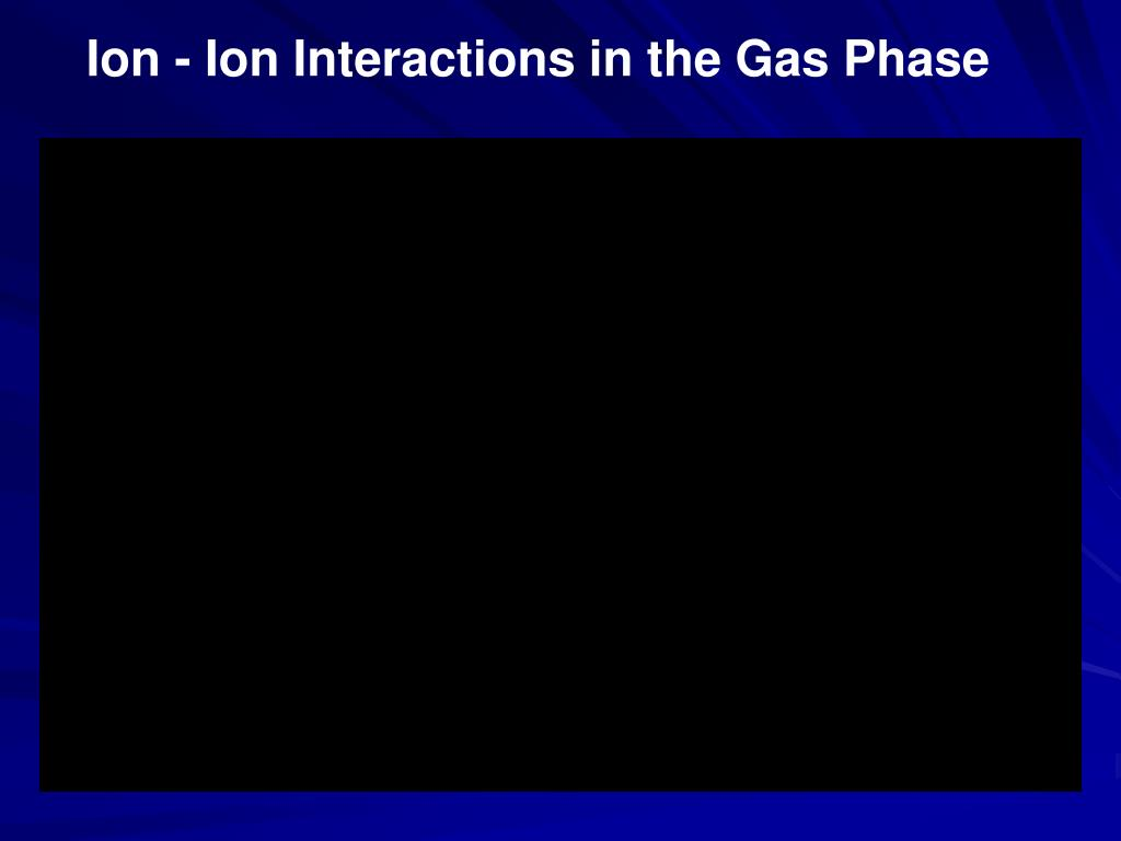 Ion - Ion Interactions in the Gas Phase