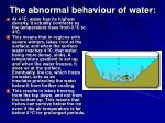 the abnormal behaviour of water