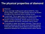 the physical properties of diamond