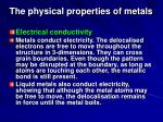 the physical properties of metals26