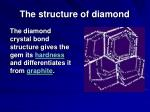 the structure of diamond107