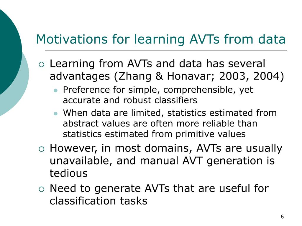 Motivations for learning AVT
