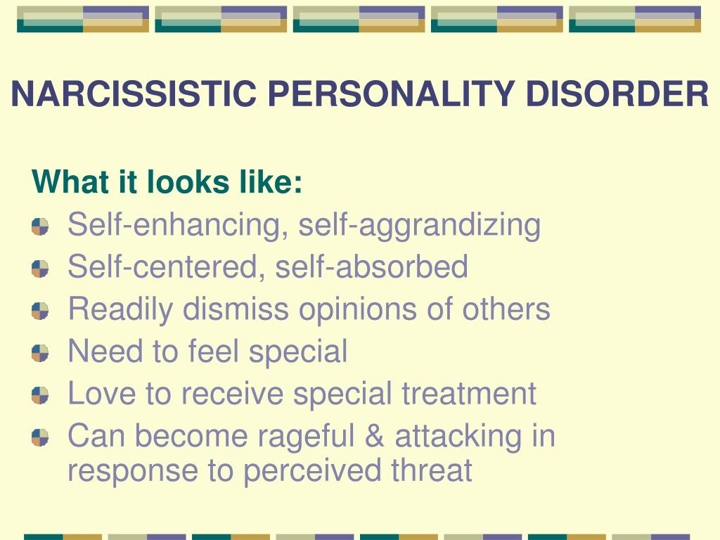 narcissistic personality disorder and treatment essay Essay about narcissistic style disorder narcissistic personality disorder is a sort of mental disorder when visitors knowledge a magnified sensation that they're.