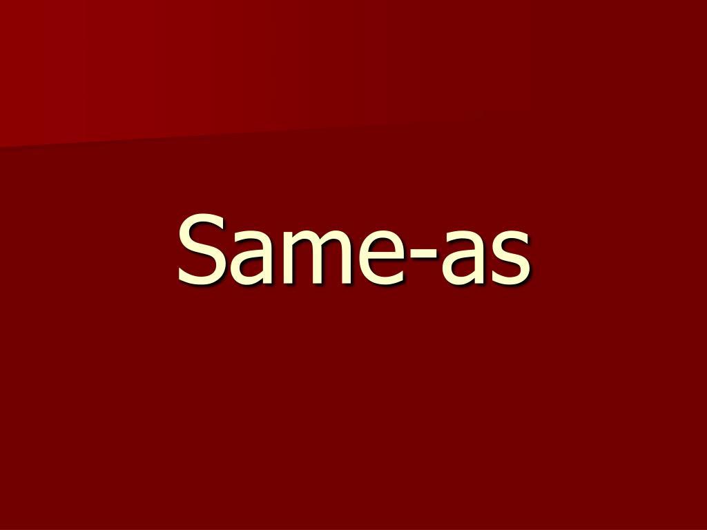 Same-as