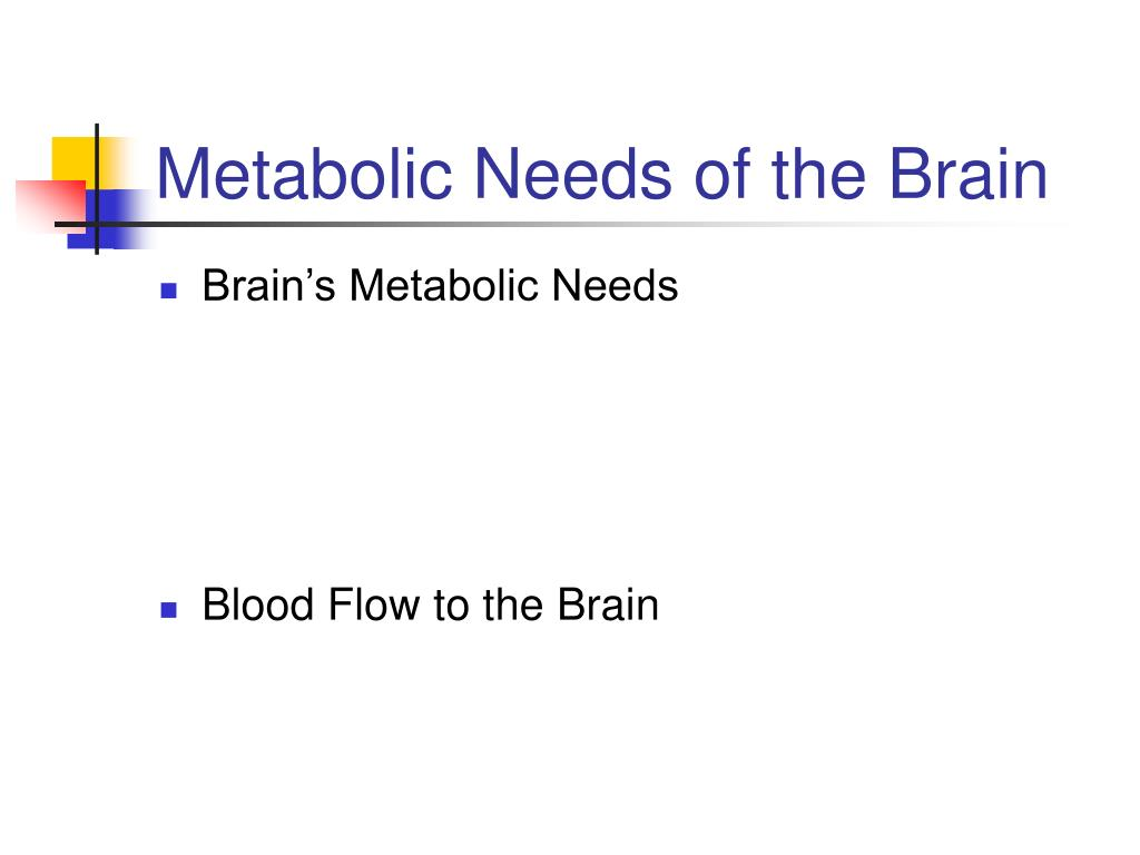 Metabolic Needs of the Brain