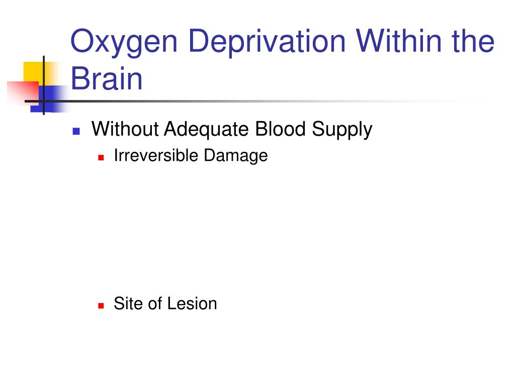 Oxygen Deprivation Within the Brain