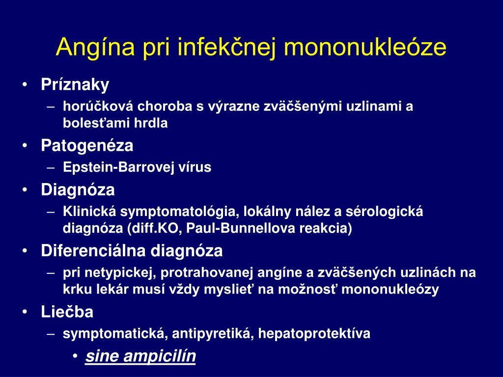 Angína pri infekčnej mononukleóze