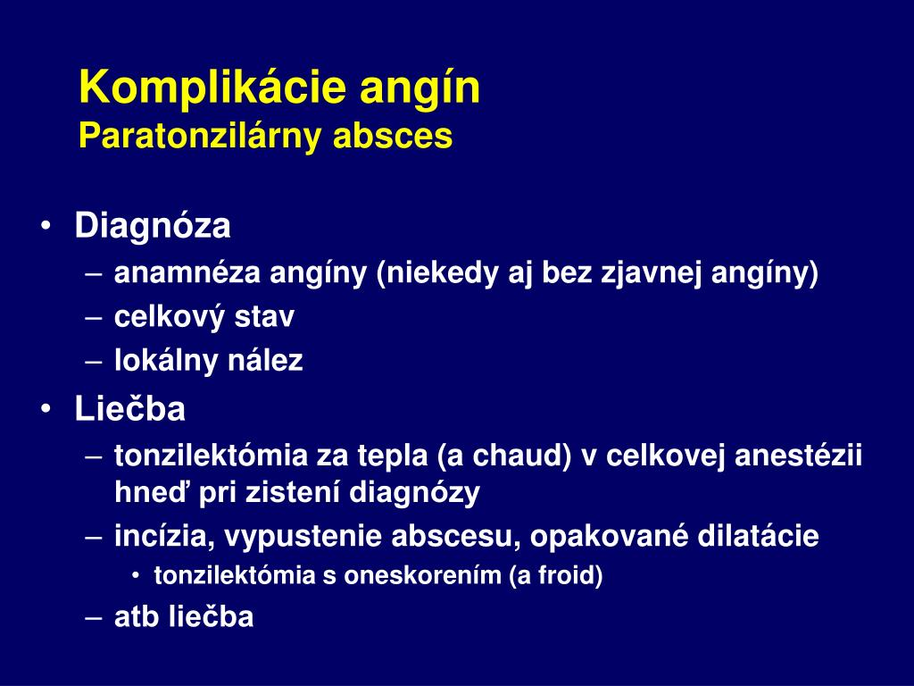 Komplikácie angín