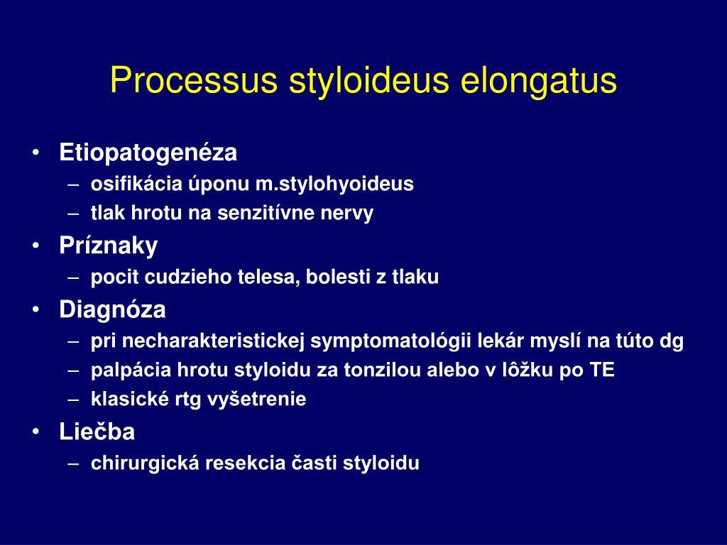 Processus styloideus elongatus