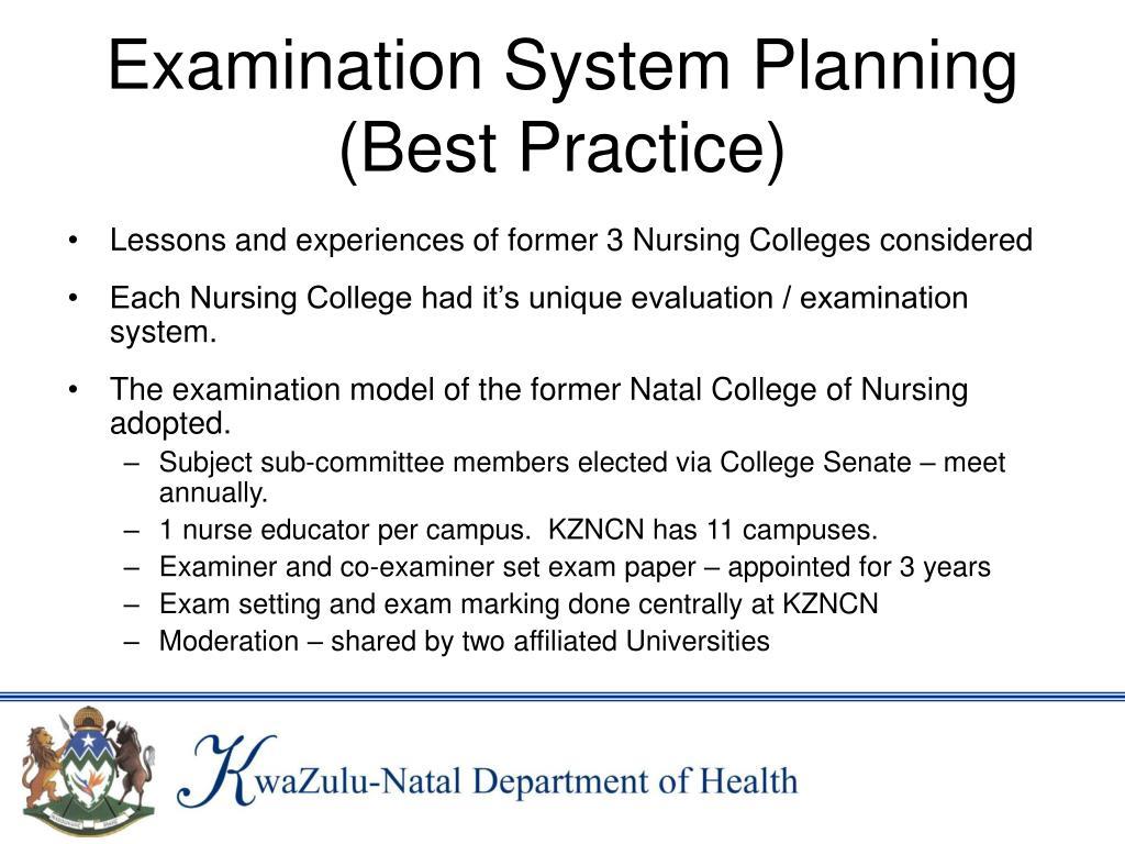 Examination System Planning