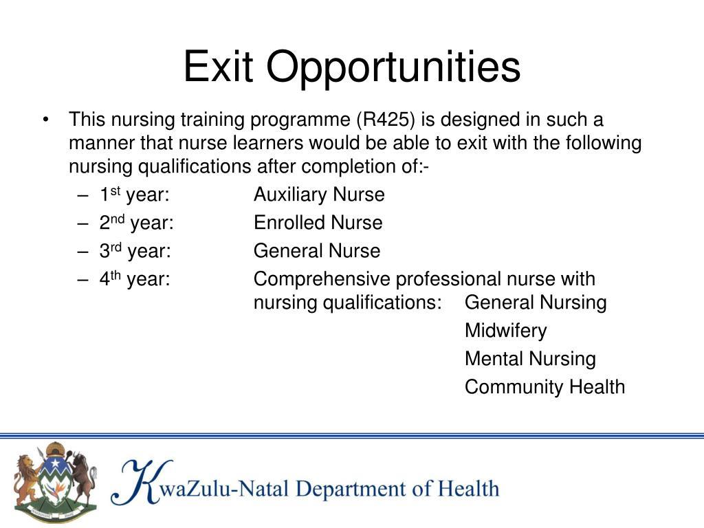 Exit Opportunities