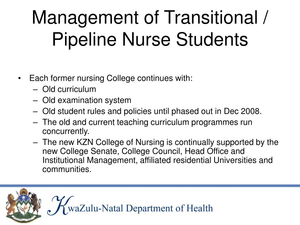 Management of Transitional / Pipeline Nurse Students
