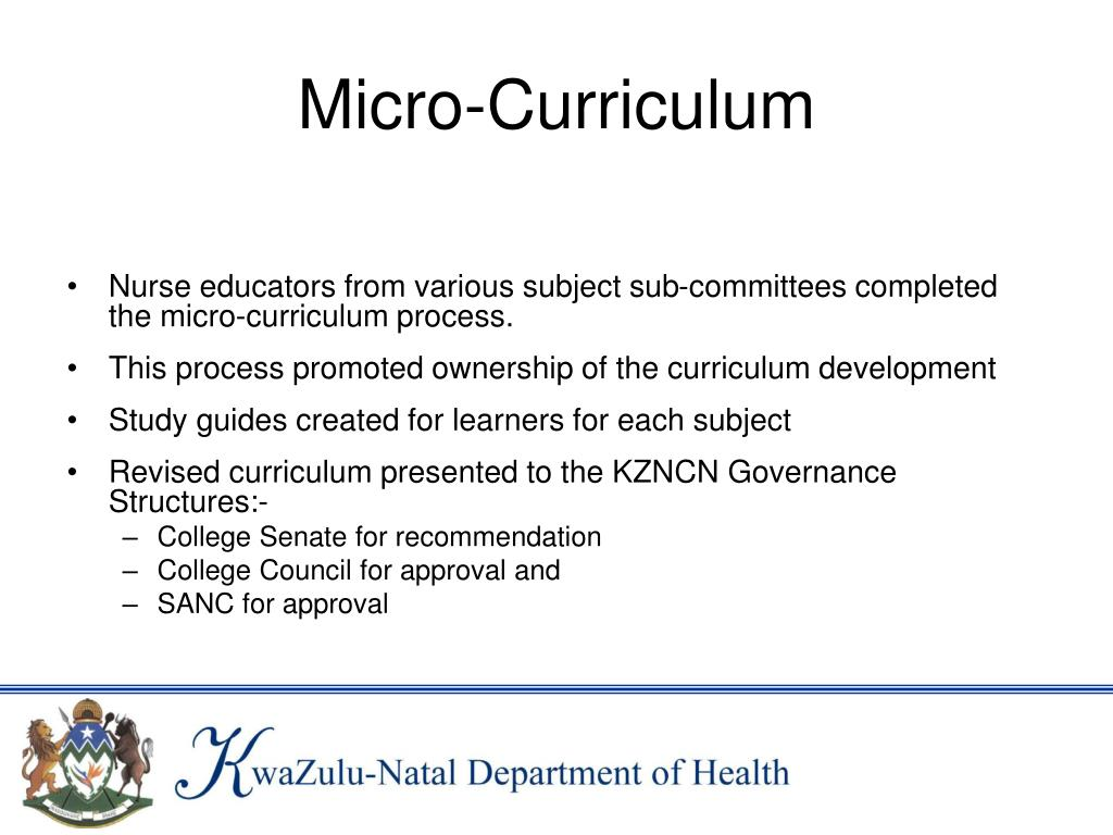 Micro-Curriculum