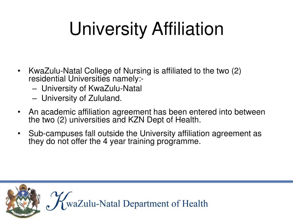 University Affiliation