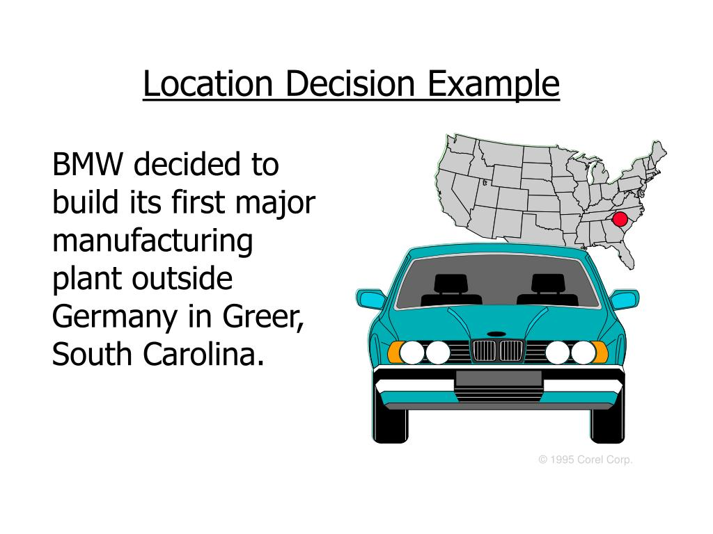 the factors affecting the location of a car manufacturing facility Factors to consider in the decision to renovate, lease, buy, or build when a university unit is considering moving from existing space, expanding its space, or creating a new program that requires space, a thorough analysis of space needs should be conducted.