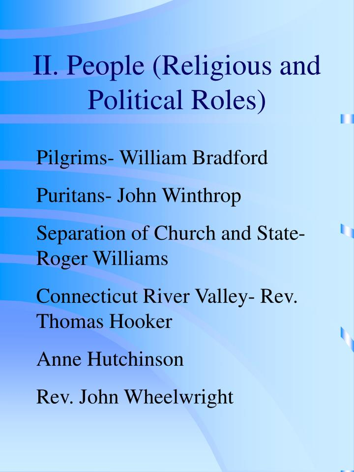 II. People (Religious and Political Roles)
