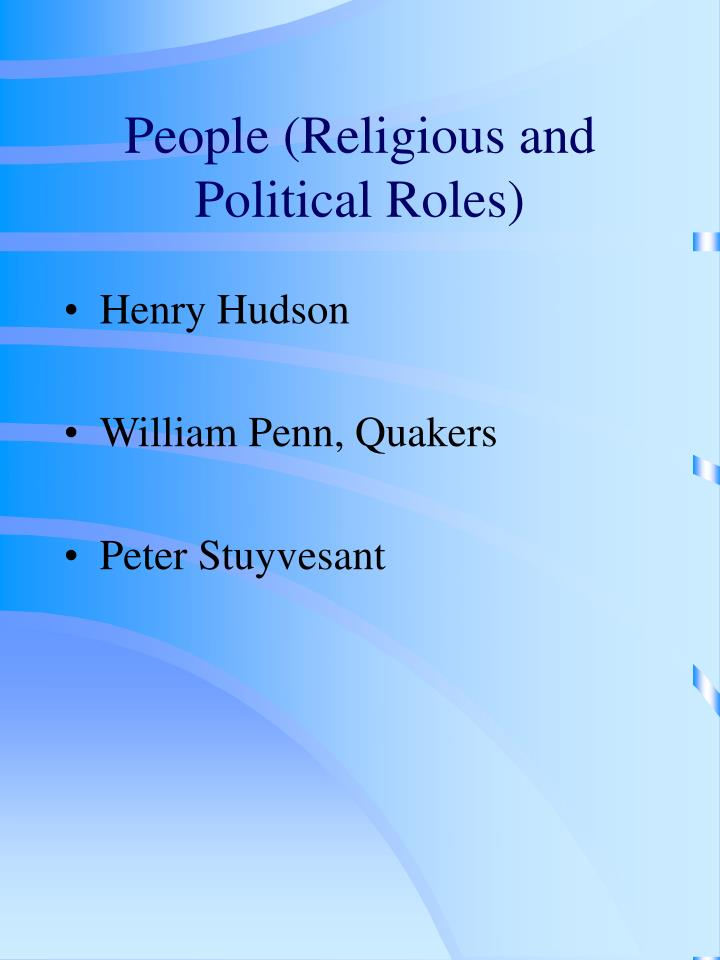 People (Religious and Political Roles)