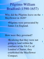 pilgrims william bradford 1590 1657