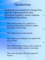 quakerism