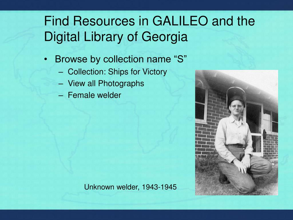 Find Resources in GALILEO and the Digital Library of Georgia