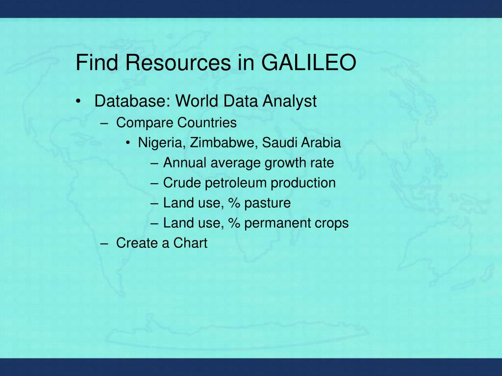 Find Resources in GALILEO