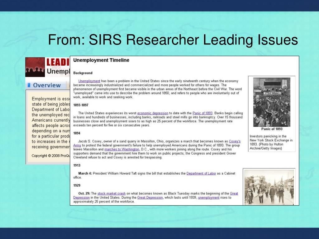 From: SIRS Researcher Leading Issues