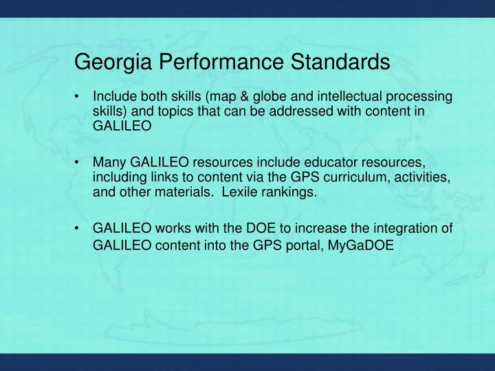 Georgia performance standards l.jpg