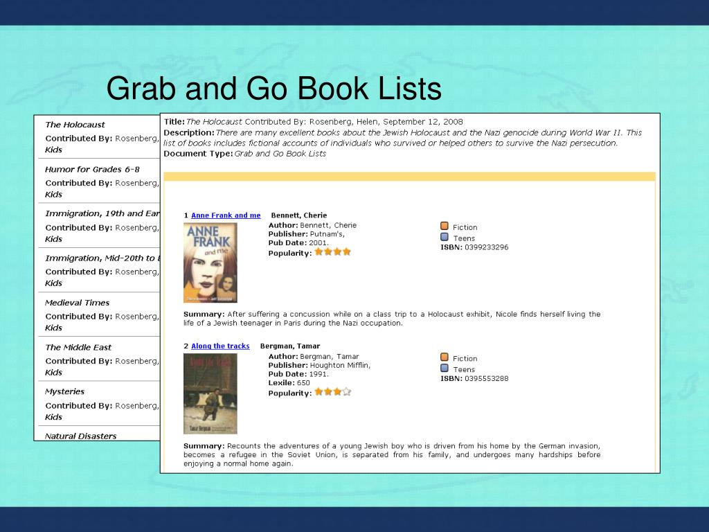 Grab and Go Book Lists