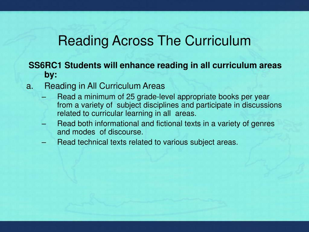 Reading Across The Curriculum