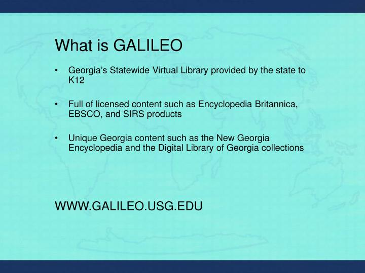 What is galileo